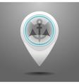 Glossy dock icon vector