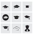 Academic icon set vector