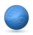 Glossy moon icon vector