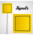 Square yellow sign over gray background vector