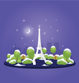 Night christmas paris vector