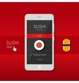 Sushi app vector