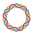 Abstract celtic weaving round framework vector