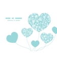 Blue and white lace garden plants heart vector