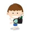 Little boy go to school vector