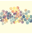 Abstract background with multicolor hexagons vector