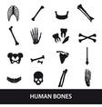 Human bones set of icons eps10 vector