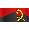 Background with waving angolan flag vector