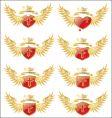 Wings cross vector
