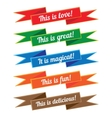 Ribbon with inscriptions set vector