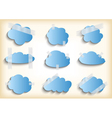 Paper cloud with scotch tape collection vector