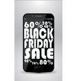 Black friday smartphone vector