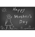 Happy mothers day card on blackboard vector