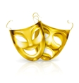 Gold theater masks vector