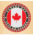 Vintage label with canada day vector