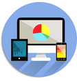 Electronic technology devices icon vector