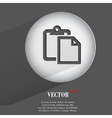 Paper flat modern web button with long shadow and vector