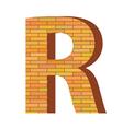 Brick letter r vector