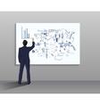 Businessman drawing vector