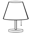 Bed lamp vector