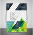 Green nature concept print template vector