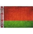 Mosaic flag of belarus vector