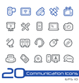 Communications icons outline series vector