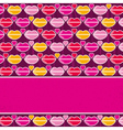 Valentine background with pink and red lips vector