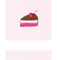 Piece of cake cupcake vector