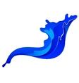 Blue ink spalsh vector