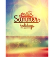 Summer holidays typography background vector