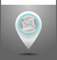 Glossy post office icon vector