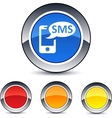 Sms round button vector