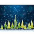 Christmas forest in the night vector
