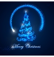 Holiday of christmas tree shiny lights sparkles vector