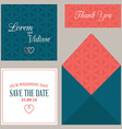 Design template of wedding invitation with vector