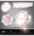 Set of winter bubbles stickers labels tags illustr vector