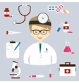 Set of colorful medical icons vector