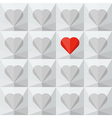 Light grey crystal hearts with one different vector