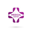Medical center logo icon design template with vector