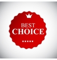 Best choice red label with ribbon vector