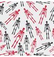 Skeletons seamless pattern eps10 vector