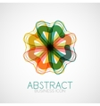 Symmetric abstract geometric shape vector