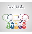 Social media people group vector