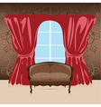 Interior sofa in the room vector