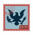 Eagle stamp vector