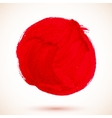 Red isolated acrylic paint circle vector