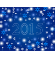 New year 2015 on a blue background with snowflakes vector