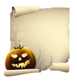 Halloween day banner drawing vector