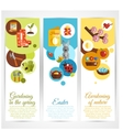 Spring banners vertical vector